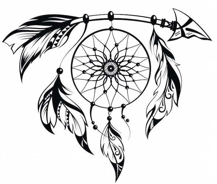 033d6cd31457f Dreamcatcher Tattoo Meaning - Tattoos With Meaning