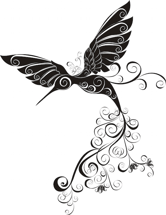 Tribal hummingbird tattoo drawing images galleries with a bite - Tatouage tribal signification ...