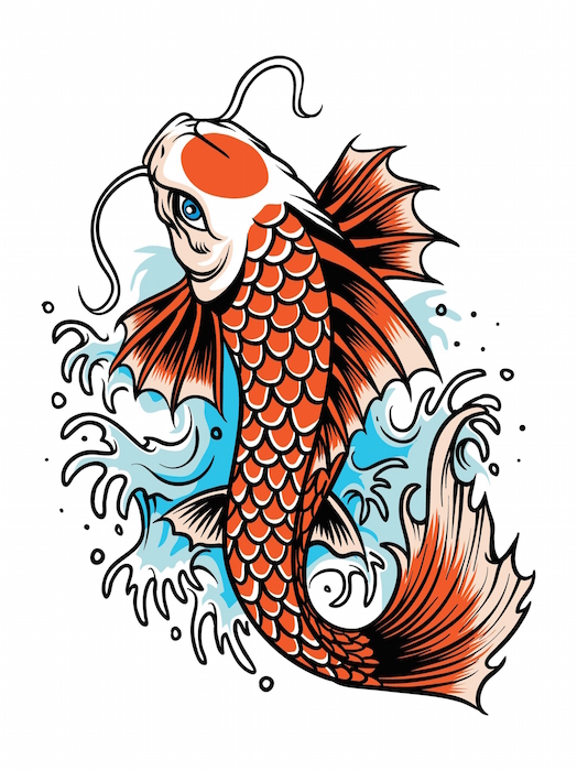 Koi fish tattoo meaning tattoos with meaning for Koi fish vector