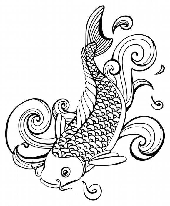 Koi fish tattoo meaning tattoos with meaning for Black koi fish meaning